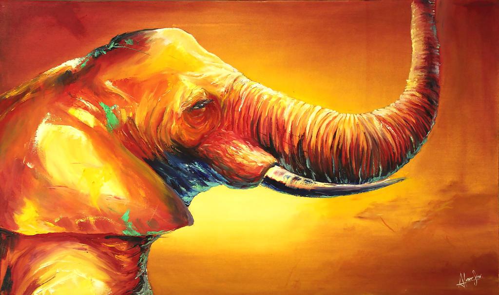 Fauvism Elephant