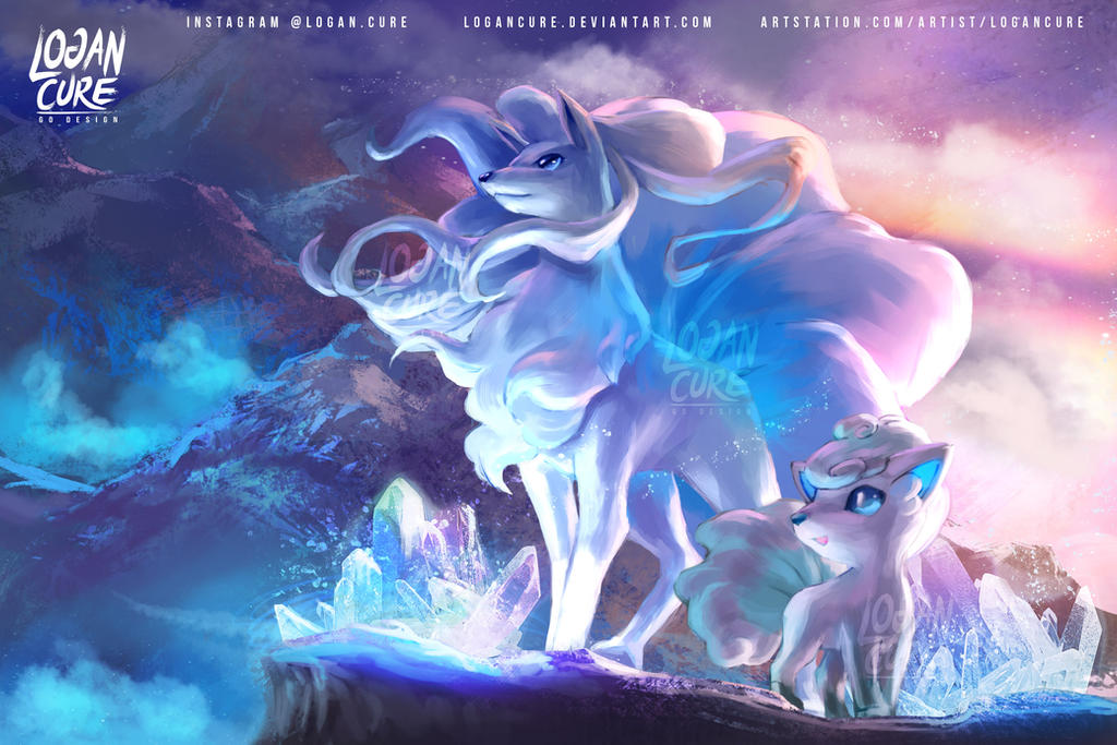 Alola Ninetales and Vulpix by logancure on DeviantArt