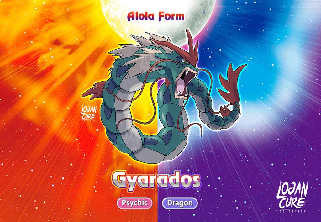 Alolan Gyarados ken sugimori style