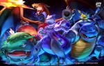 Kanto Mewtwo, Pikachu Charizard Venusaur Blastoise