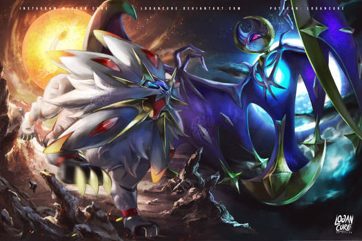Solgaleo, Lunala Pokemon Sun and moon