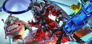 Yu-Gi-Oh! armed dragon lv 10, Ojama King, VW-Tiger