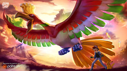 Ho-Oh, Pikachu, Ash Pokemon 20 I choose you!
