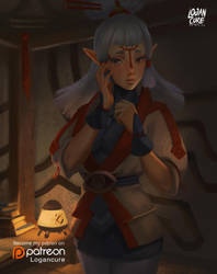 Paya - The legend of Zelda breath of the wild by logancure