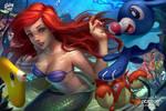 Ariel, popplio, corphish, luvdisc