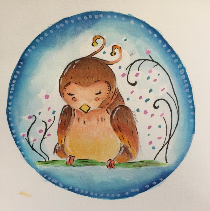 It's a Fat Sleeping Bird by FoxTail115