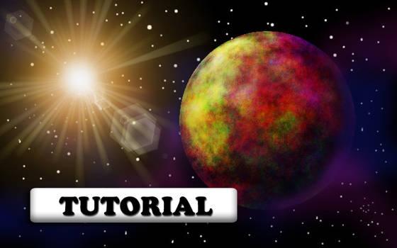 TUTORIAL:How to create sci-fi planet scene in GIMP