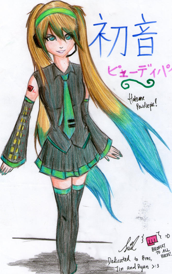O.O.I-Hatsune-Pewdie xD by SylviaEvilKitty