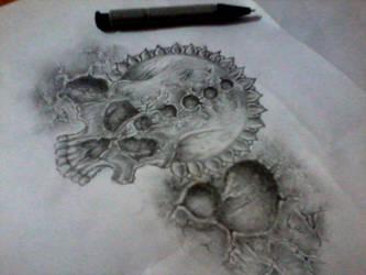 Skull tattoo by Sagar555