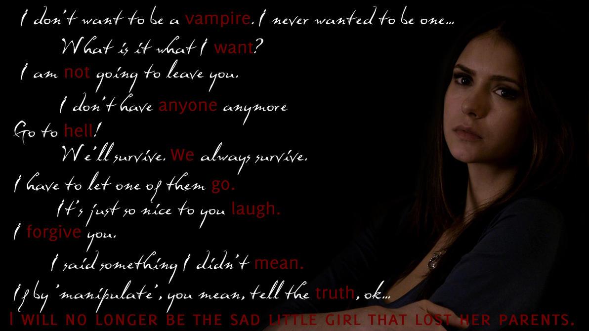 Quotes From Vampire Diaries Elena's Quotesbloodymarynina On Deviantart