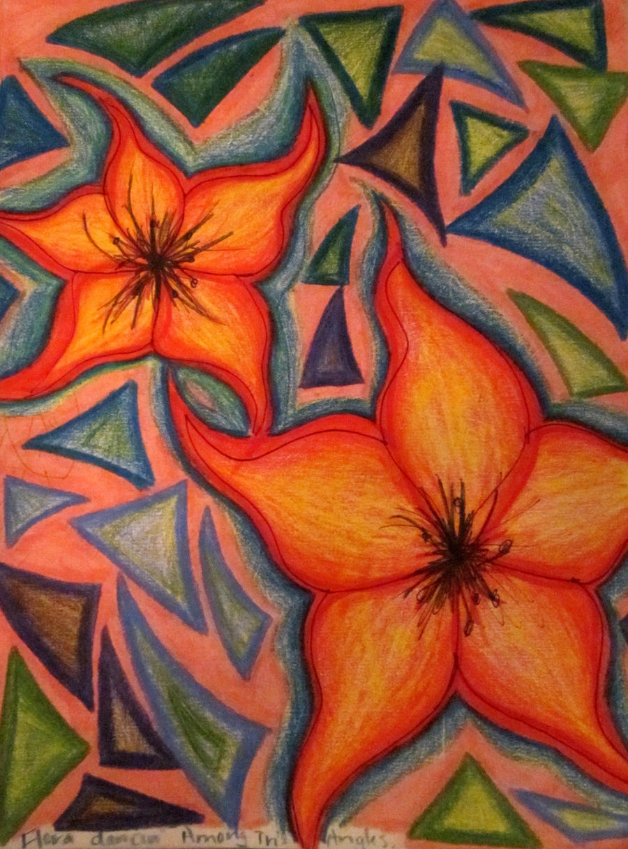 Flower mosaic drawing 7 by lusciousangel14 on deviantart for Drawing mosaic pictures
