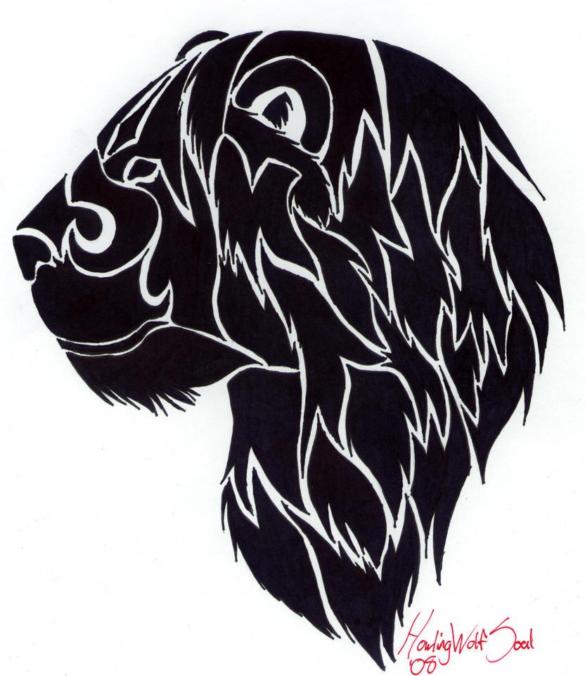 Tribal lion tattoo by howlingwolfsoul on deviantart for Tribal tattoo shops near me