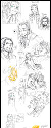 The hobbit/Lord of the rings sketches by ziloDMK