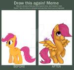 Draw This Again! Meme (Scootaloo)