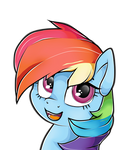Rainbow Dash Portrait.