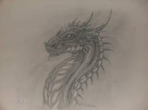 Charcoal Dragon Bust