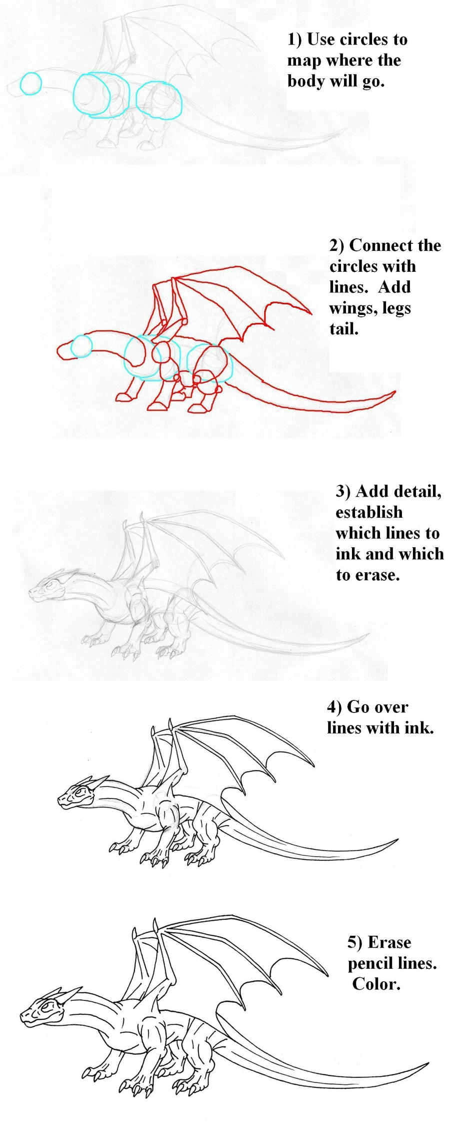 Four legged dragon tutorial by Scatha-the-Worm