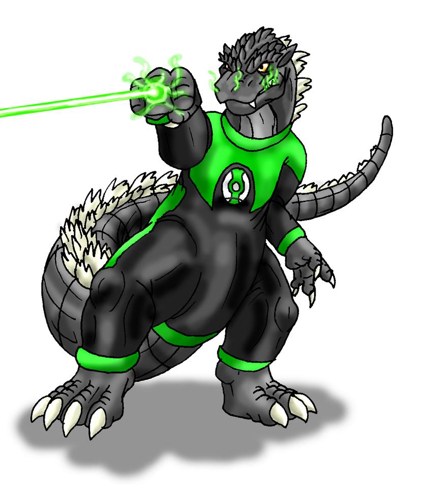 B-Day-Green Lantern Godzilla by Scatha-the-Worm