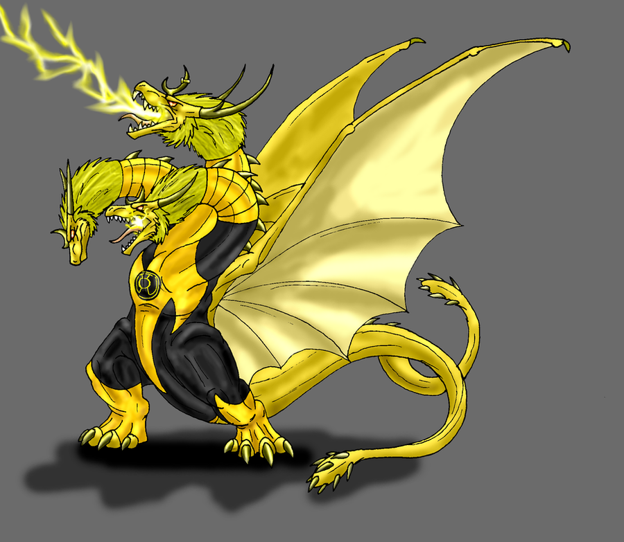 B-Day-Sinsestro Ghidorah by Scatha-the-Worm