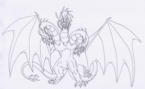 King Ghidorah by Scatha-the-Worm on DeviantArt