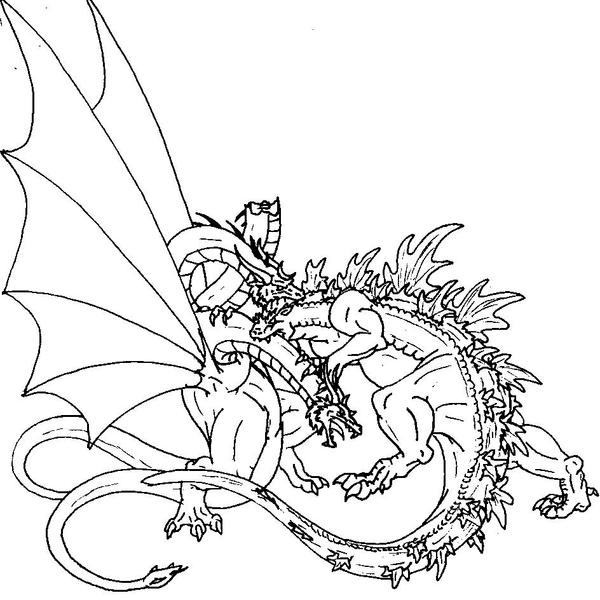 childrens godzilla coloring pages - photo#33