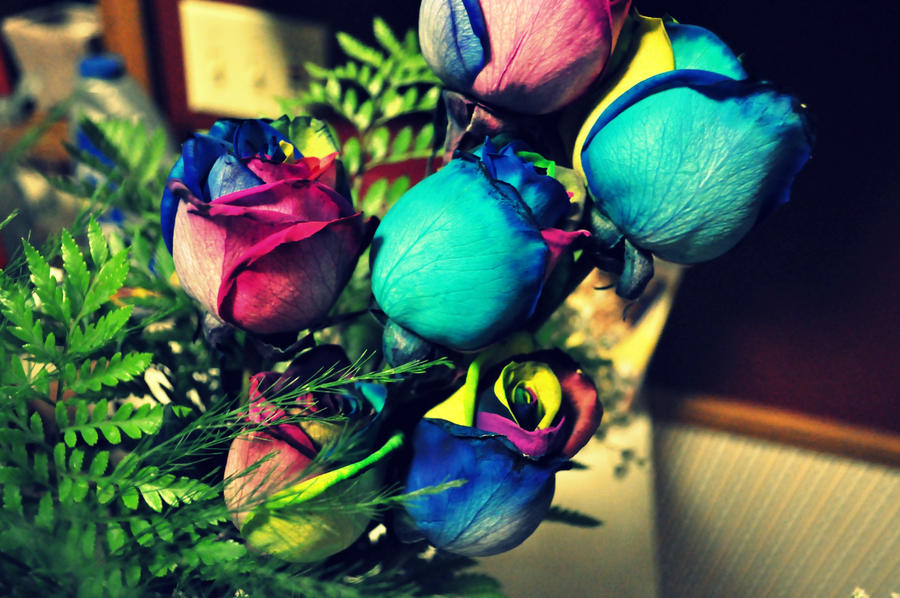 Tie dye roses by firefly1112 on deviantart for How to make tie dye roses