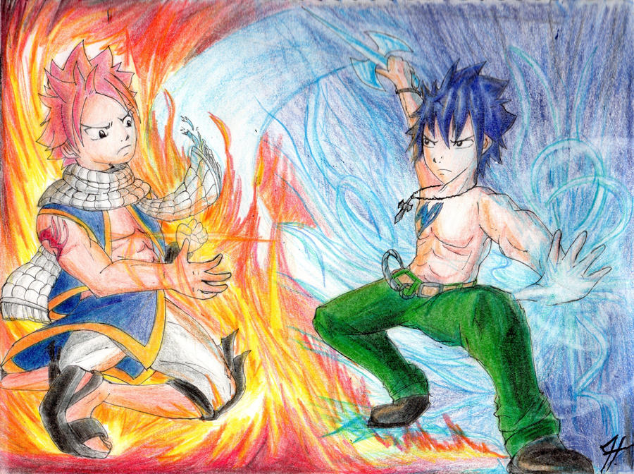 Natsu Dragneel and Gray Fullbuster by Vdeogamer on DeviantArt  Gray Fullbuster And Natsu Dragneel