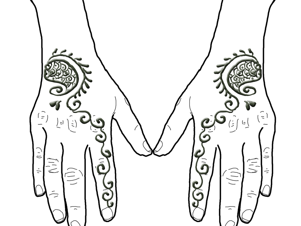 Henna on Hands by shilpinator
