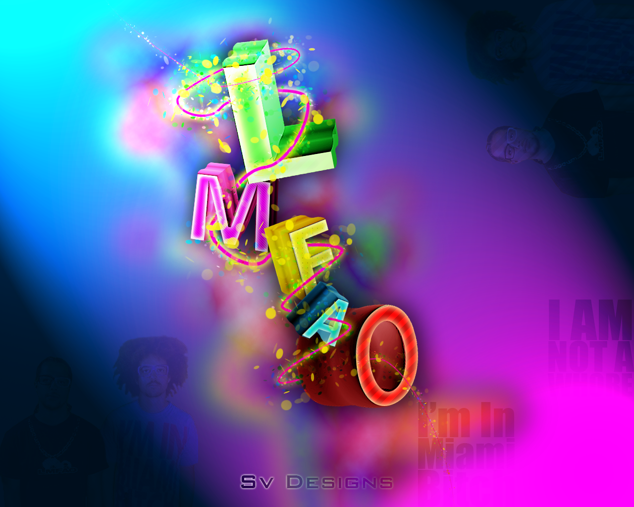 LMFAO - Wallpaper :3d typo: by shilpinator