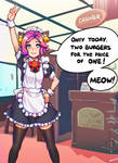 Maeve works in a Maid Cafe