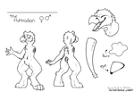 Anthro Fluftrodon base f2u (transparent)