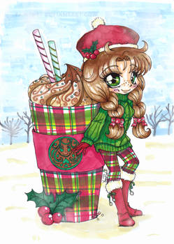 Choca Mocha with Peppermint Candycanes