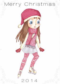 Merry Christmas - Ice Skating Chibi