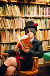 Black Butler - Ciel reading