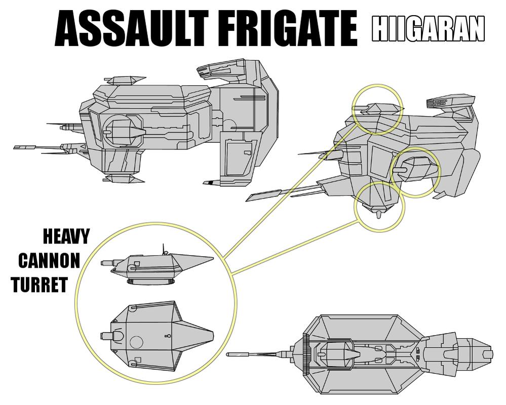 Hiigaran Assault Frigate by Pasteljam