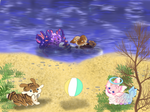 Spring Party at the Beach by MintyMilja