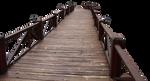 wood bridge PNG 2 by dreamlikestock