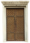 beautiful door and marble frame