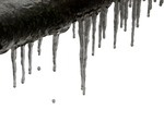frosty branch with icicles PNG by dreamlikestock