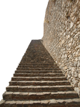 ancient stairs and wall PNG by dreamlikestock