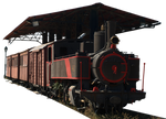 Old train and trainstation PNG by dreamlikestock
