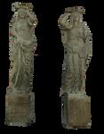 Pillar statues PNG by dreamlikestock