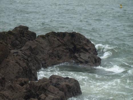 Ocean cliff stock