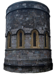 Gothic church tower precut PNG stock by dreamlikestock