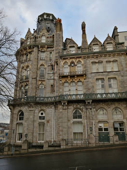 Old hotel victorian gothic style 3
