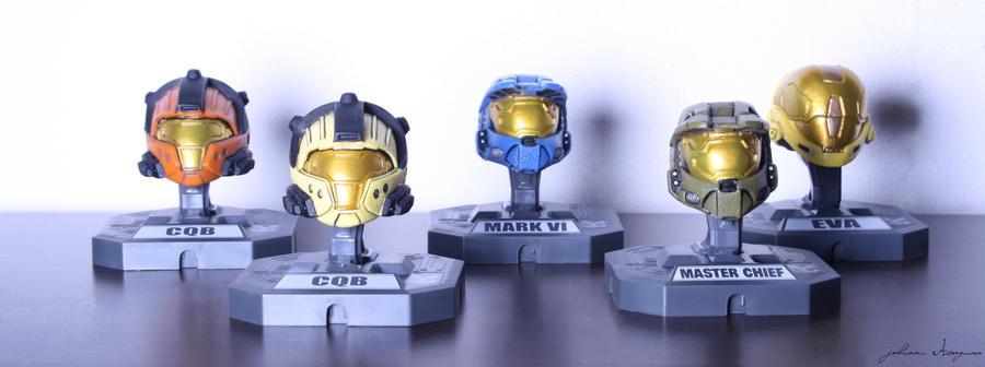 Halo Helmet Collection II. by Johawna