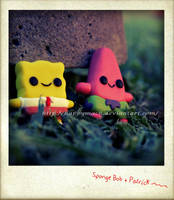 Spongebob and Patrick_ by HappyMach