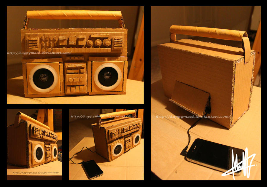 Cardboard Boombox 3 by HappyMach