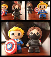 Captain America and Bucky by HappyMach