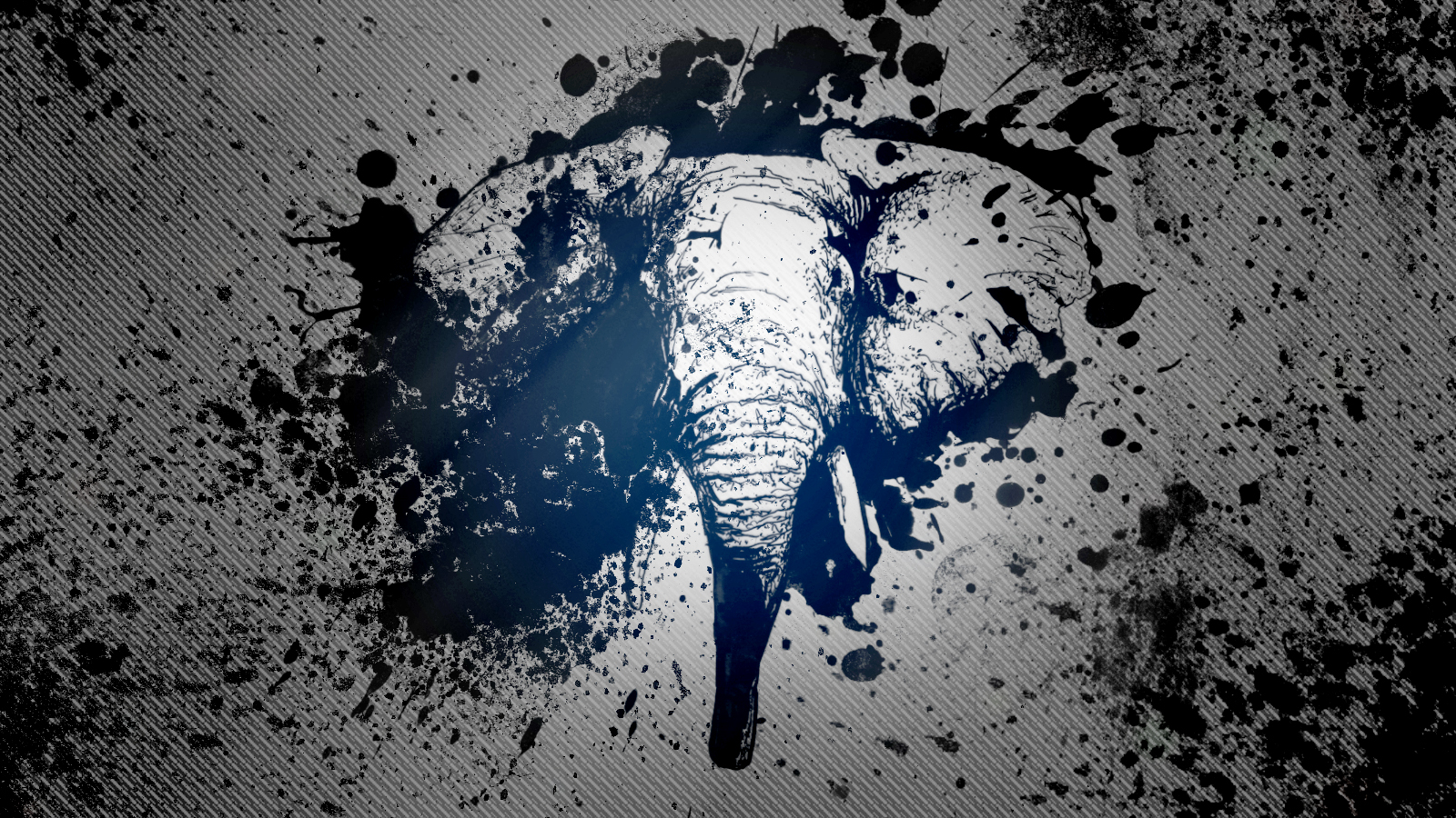 Inked Elephant Wallpaper by ~DavesArtwork on deviantART: findwallpaper.info/elephant+wallpaper/page/7